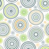 Fondo - círculos y puntos y flor Foto de archivo