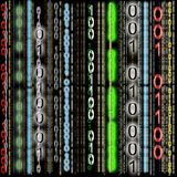 Fondo, código binario colorido stock de ilustración
