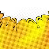 fondo cómico de la burbuja del discurso del Estallido-arte Fotografía de archivo
