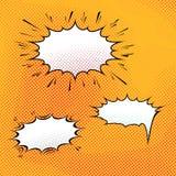 Fondo cómico del arte de la burbuja del discurso Fotos de archivo