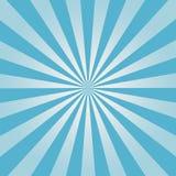 Fondo cómico Modelo azul del resplandor solar Sun irradia el contexto abstracto Vector Fotografía de archivo libre de regalías