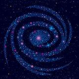 Fondo cósmico con la galaxia ilustración del vector