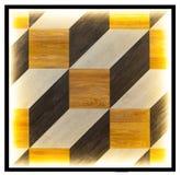 Fondo cúbico de madera de la forma Fotos de archivo