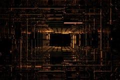 Fondo cúbico oscuro Imagen de archivo libre de regalías