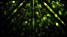 Fondo c?smico creativo del extracto con los rayos que brillan intensamente de ne?n en el movimiento en el fondo negro, lazo incon ilustración del vector