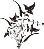 Fondo caótico de la naturaleza ilustración del vector