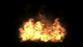 fondo caldo della fiamma dei fuochi d'artificio delle particelle del fuoco 4k video d archivio