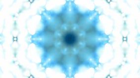 Fondo caleidoscópico azul del fractal de VJ ilustración del vector