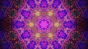Fondo caleidoscópico azul del fractal Movimiento del fondo con diseño del fractal El espectro del disco enciende el bulbo del pun