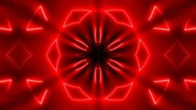 Fondo caleidoscopico al neon di frattale Contesto astratto di Digital stock footage