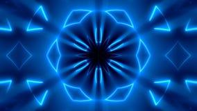 Fondo caleidoscopico al neon di frattale Contesto astratto di Digital video d archivio