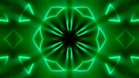 Fondo caleidoscopico al neon di frattale Contesto astratto di Digital archivi video