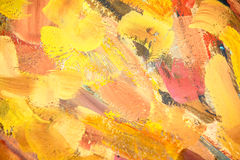Fondo caliente de la pintura del color Foto de archivo libre de regalías