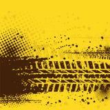 Fondo caliente de la pista del neumático Imagenes de archivo