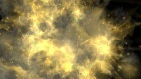 fondo caliente de los fuegos artificiales de la energía del fuego del humo del vapor del gas de la niebla de la partícula de la e stock de ilustración