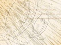Fondo caligráfico ilustración del vector