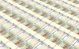 Fondo camboyano de las pilas de las cuentas de dinero Imagen de archivo