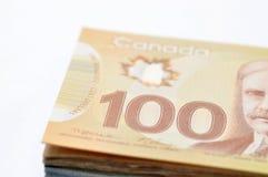 Fondo canadiense del dinero Imágenes de archivo libres de regalías