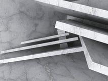 Fondo caotico della costruzione Architettura concreta Fotografia Stock Libera da Diritti