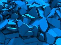 Fondo caotico di superficie incrinato di demolizione blu illustrazione vettoriale