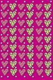 fondo caprichoso del corazón 3D Fotografía de archivo libre de regalías