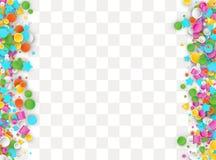Fondo carnaval coloreado del confeti stock de ilustración