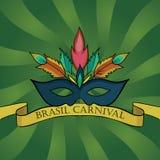Fondo carnaval del Brasile Fotografie Stock Libere da Diritti