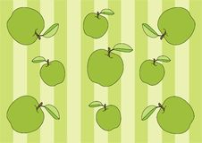 Fondo carta da imballaggio e del modello verde mela di Wale Design illustrazione di stock