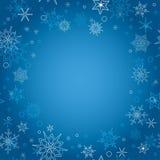 Fondo - cartolina di Natale blu con i fiocchi di neve Royalty Illustrazione gratis