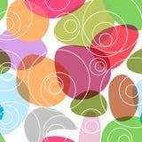 Fondo casuale Colourful dei cerchi royalty illustrazione gratis