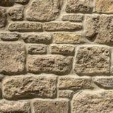 Fondo casuale della parete di pietra delle macerie Immagini Stock