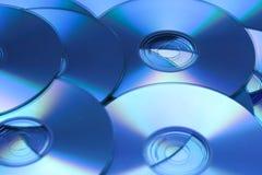 Fondo CD azul Imágenes de archivo libres de regalías