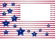 Fondo celebrador con el marco para su texto para el Día de la Independencia y el día del patriota de los Estados Unidos de Améric ilustración del vector