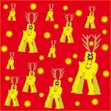 Fondo celebrador con los ciervos y las estrellas Libre Illustration