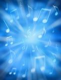Fondo celeste de la música Imagen de archivo