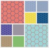 Fondo cellcolorful esagonale Fotografia Stock