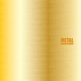 Fondo cepillado de oro de la textura stock de ilustración