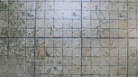 Fondo ceramico al suolo sporco Fotografie Stock