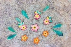 Fondo ceramico del modello di fiore fotografia stock