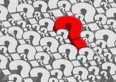 Fondo che consiste dei punti interrogativi Immagini Stock Libere da Diritti