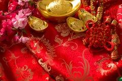 Fondo chino de las decoraciones del Año Nuevo Fotografía de archivo