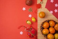 Fondo chino del Año Nuevo con las decoraciones tradicionales para Spr