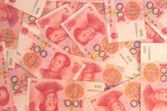 Fondo chino del dinero Foto de archivo