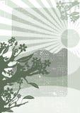 Fondo chino del grunge Stock de ilustración