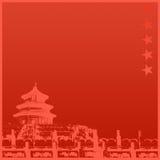 Fondo chino del templo Fotos de archivo libres de regalías