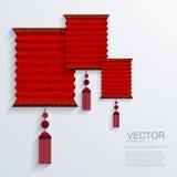 Fondo chino moderno de la linterna de papel del vector Fotografía de archivo