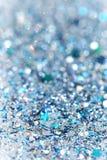 Fondo chispeante congelado azul y de plata del brillo de las estrellas del invierno de la nieve Día de fiesta, la Navidad, textur fotos de archivo libres de regalías
