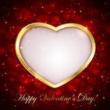 Fondo chispeante de las tarjetas del día de San Valentín Fotos de archivo libres de regalías