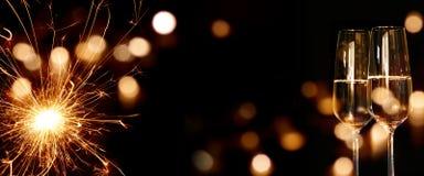 Fondo chispeante del Año Nuevo Fotos de archivo libres de regalías