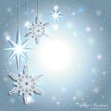 Fondo chispeante del copo de nieve de la estrella de la Navidad libre illustration